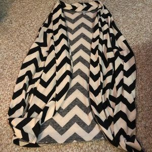 Black/white chevron cardigan
